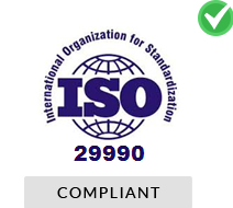 ISO 29990 compliant